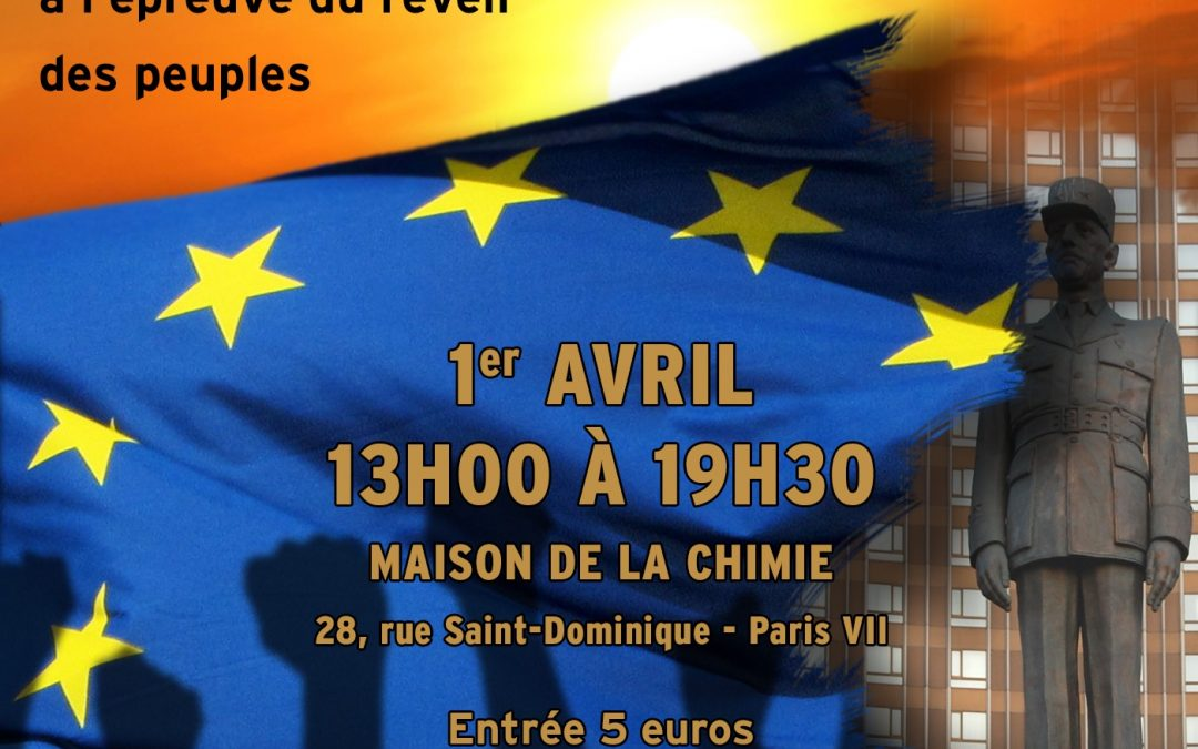 Grand colloque à Paris sur l'Europe et les États nations organisé par la SOFRADE et Ouest-Est