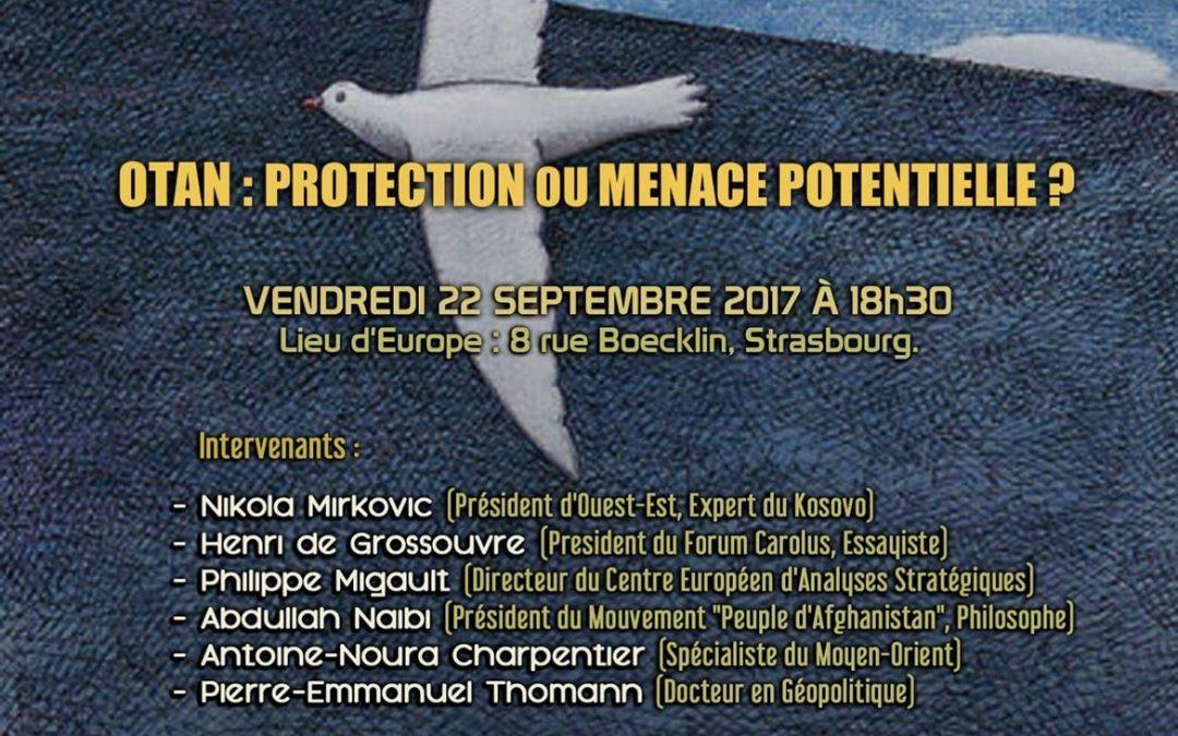 Conférence à Strasbourg sur «L'Otan : protection ou menace potentielle ?»
